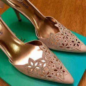 Brand new J. Renee satin rhinestone heels